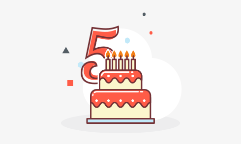 Twoo is 5 years old!